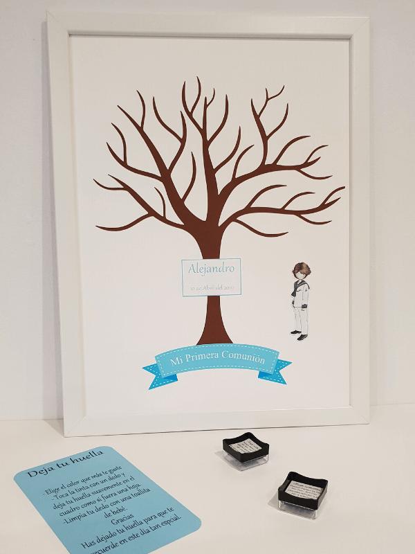 árbol de huellas niño 1