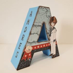 letra decorada niño 1