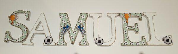 letras decoradas fútbol